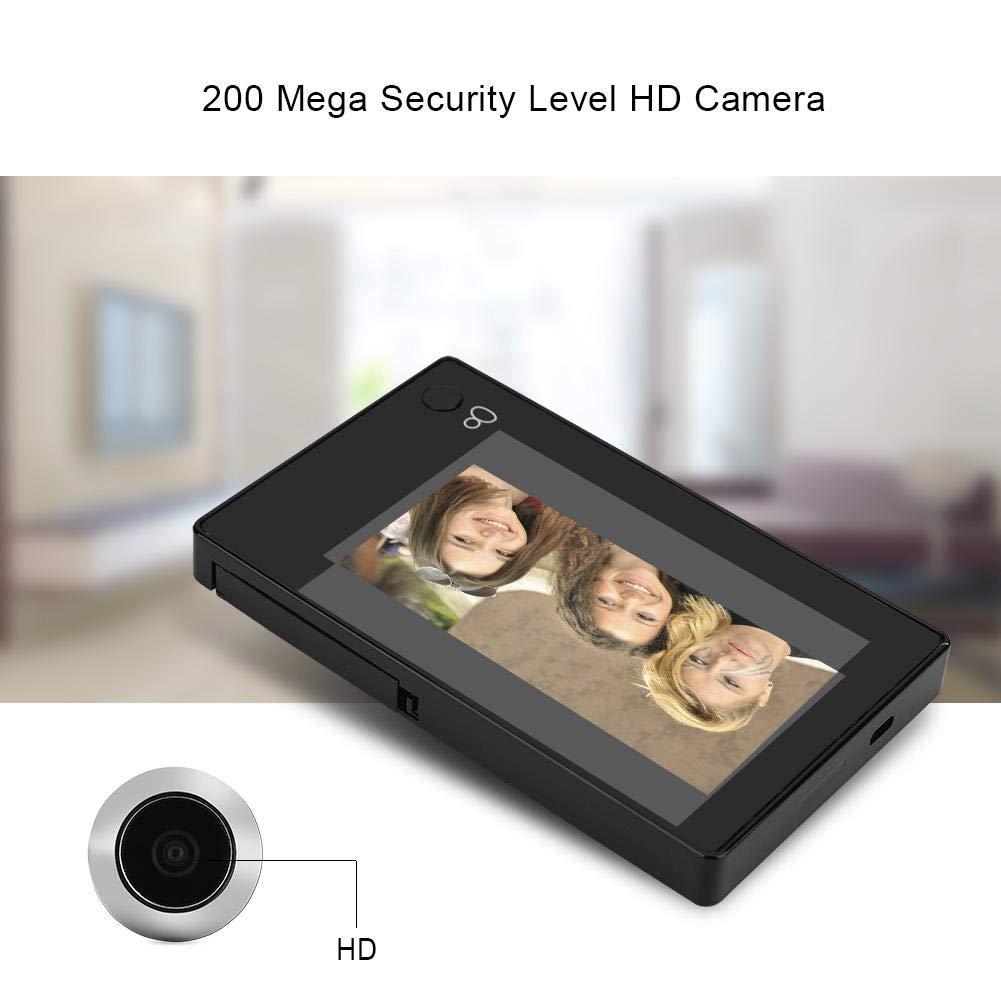 Tangxi Digitaler T/ürspion 4,3-Zoll-TFT-Farb-LCD-Monitor mit 140 /° Weitwinkel HD LCD-Bildschirm T/ürspion mit FIFO-Funktion LCD Video T/ürkamera Digitale T/ürspion-Kamera