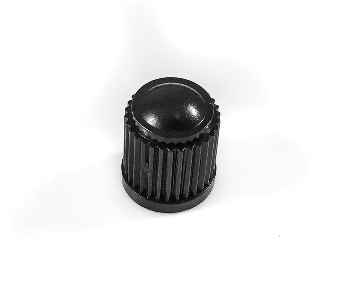 Schrader Tire Caps. Trucks Cars Motorcycles Black Plastic Replacement Valve Caps ATV Hollow-Point Gear Set of 100
