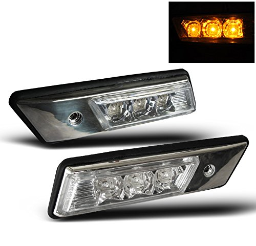 - ZMAUTOPARTS BMW E36 E34 Front Amber LED Side Marker Signal Lights Lamp