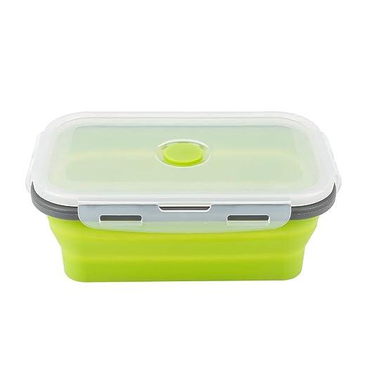 1 pc Envases de almacenamiento de alimentos de silicona plegable ...
