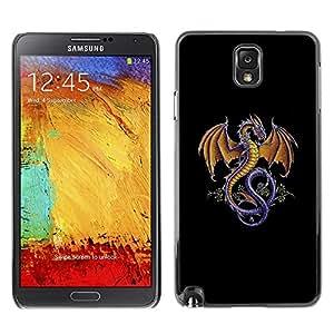 TopCaseStore / la caja del caucho duro de la cubierta de protección de la piel - The Majestic Dragon - Samsung Galaxy Note 3 N9000 N9002 N9005