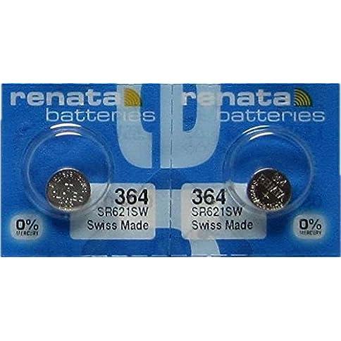 - 51YU4Bza7HL - 2 Renata 364 SR621SW Silver Oxide Zero Mercury Electronic Batteries