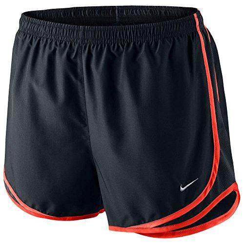 Nike Women's Dri-FIT Tempo Running Shorts 831558 482 Navy Blue Orange Size M (Blue Shorts Ladies Tempo Navy)