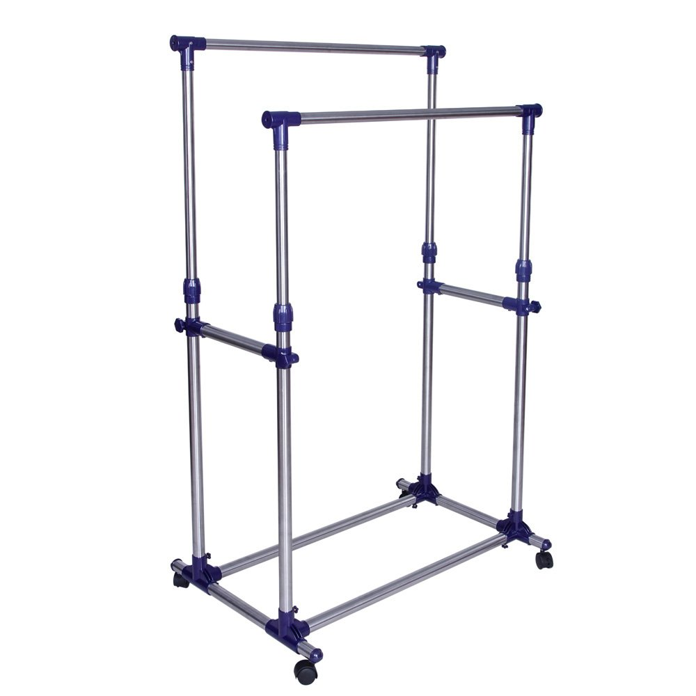 SONGMICS Double Rod Garment Clothing Rack
