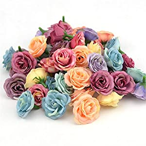 GSD2FF 10pcs 3cm Mini Rose Cloth Artificial Flower for Wedding Party Home Room Decoration Marriage Shoes Hats Accessories 110