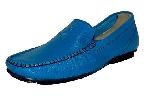 Business - Mocasines de cuero para hombre azul azul claro, color azul, talla 39: Amazon.es: Zapatos y complementos