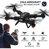 Kanzd 2.4G 4CH Altitude Hold 0.3MP HD Camera WiFi FPV RC Quadcopter Drone Selfie Fold