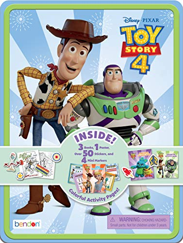 Small Tin Toy - Disney Toy Story 4 Coloring & Activity Tin AS45557