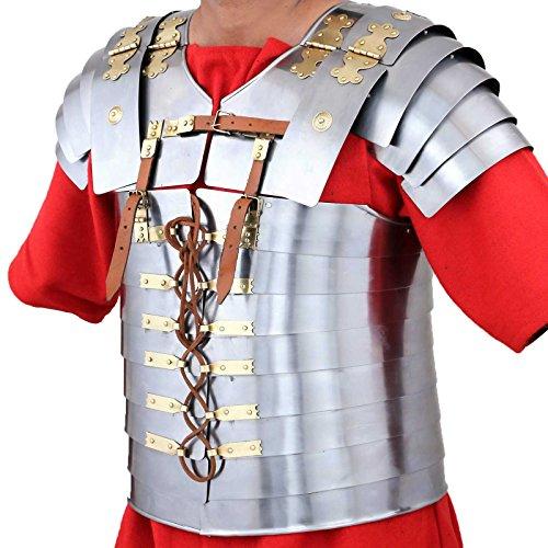[Ectoria EC02-003 Roman, Gladiatorial Lorica Segmentata with FREE Cotton Tunic (LARP/SCA/Medieval)] (Roman Empire Costumes)