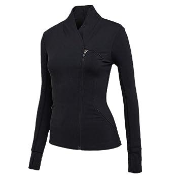 CS-YP Chaqueta de Yoga para Mujer, Color Puro Camisa de ...