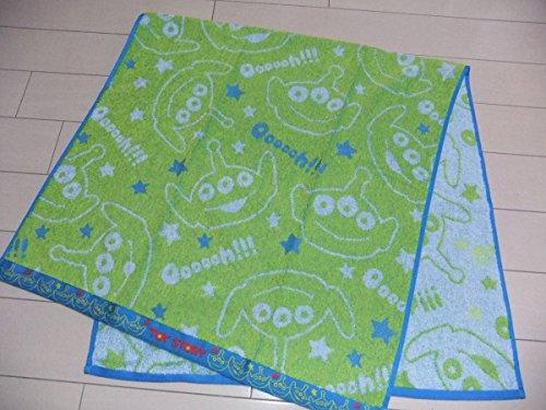 ディズニー エイリアン ジャガード織り バスタオル 60×120cm 黄緑  トイストーリー リトルグリーンメン