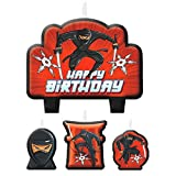 Amscan Boys Ninja Birthday Party Candle Set Cake Decorations (Pack of 4), Multicolor