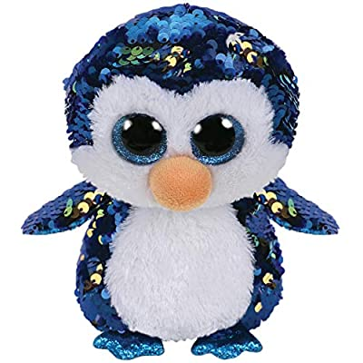 "Ty Flippables Payton - The Sequin Penguin - 6"": Toys & Games"