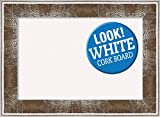 Amanti Art White Cork Farmhouse Brown Framed Bulletin Boards