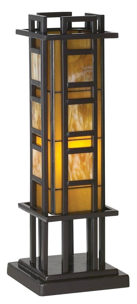 Prairie Style 20'' High Pillar Accent Table Lamp