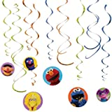 Amscan Sesame Street Swirl Decorations, Multicolor