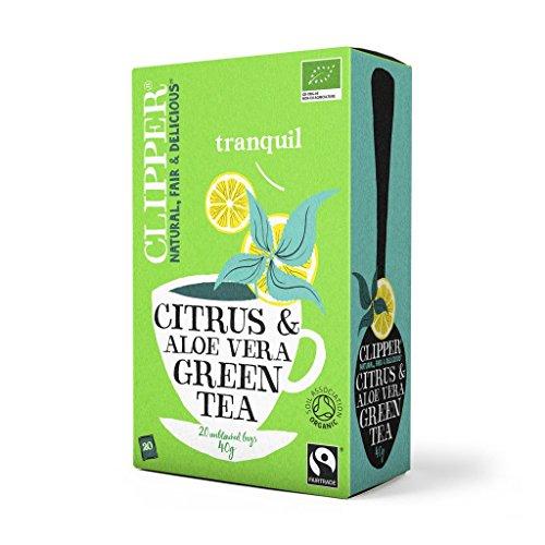 (8 PACK) - Clipper Green Tea & Aloe Vera - Organic| 20 Bags |8 PACK - SUPER SAVER - SAVE MONEY