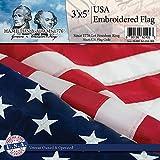 Hamilton & Adams 1776 US Flag: 100% Made USA - Toughest and Longest Lasting Embroidered American Flag