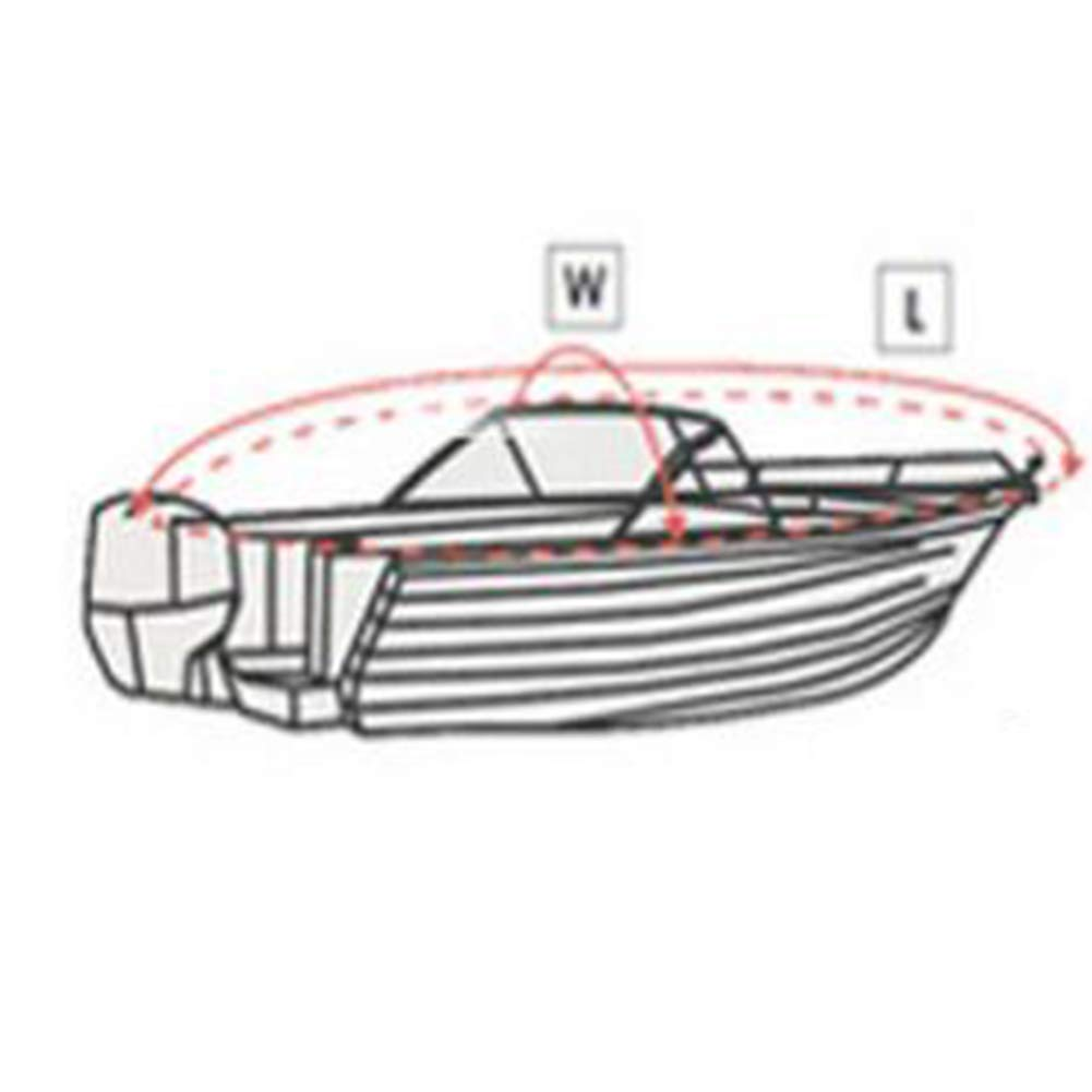 5M // 11 Petyoung 3 Barco de Pesca de Kayak de 6 a 3 M Canoa Cubierta de Barco Impermeable de 5 Pies Cubierta de Polvo de Almacenamiento de Protecci/ón Solar Ultravioleta Duradera para 2