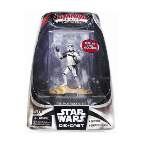 Star Wars Titanium Series Painted Figure - Sandtrooper with Display Case