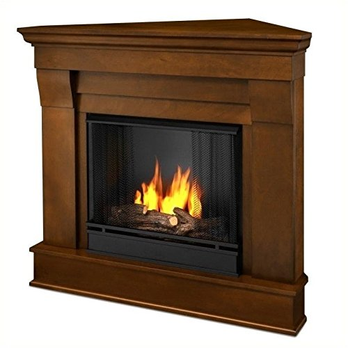 Real Flame Chateau Gel Corner Fireplace in Espresso Finish (Gel Ventless Corner Fireplace)