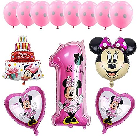 HXLF Decoraciones Mickey Minnie 13 unids/Set Globos de Papel ...