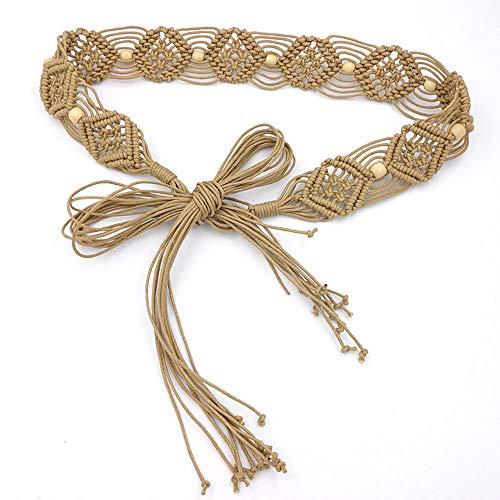 Cinlan Women's Bohemian Style Rope Braid Waist Belt (Style1)]()