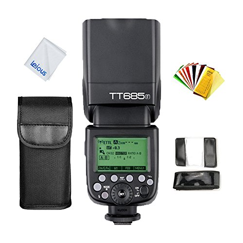 Godox TT685F Thinklite TTL Flash for Fujifilm Cameras 2.4G High-Speed HSS 1/8000S GN60 for Fuji X-Pro2 X-T20 X-T1 X-T2 X-Pro1 X-T10 X100F X-E1 X-A3 X100T by Godox