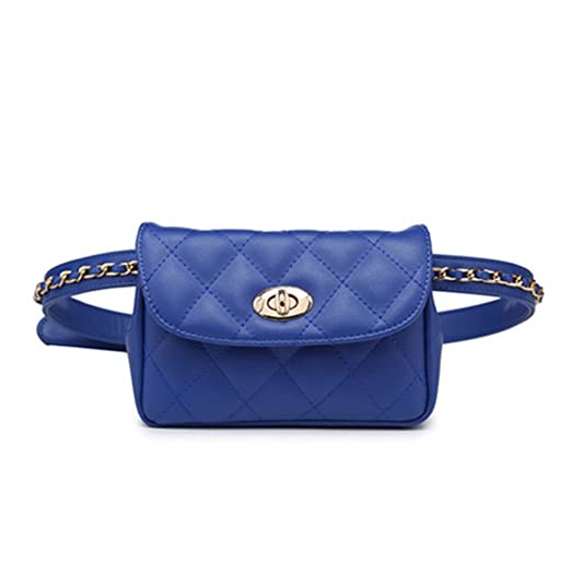6677974e27 Image Unavailable. Image not available for. Color  Small Waist Fanny Pack  Bag Cellphone Pouch for Women   Girls (Blue)