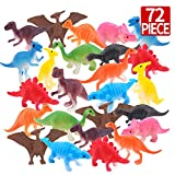 Amy & Benton Dinosaur Cupcake Toppers Party Favors Mini Dinosaurs Figure Toy 72PCS for Kids Birthday Pinata Fillers 2-3 Inches
