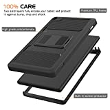 MoKo Case for Amazon Fire HD 8 (2016 6th Generation) - [Heavy Duty] Full Body Rugged Cover with Built-in Screen Protector for Fire HD 8 Tablet (6th Gen, 2016 release Only), BLACK