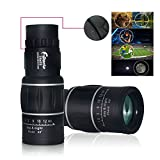 Waterproof Super Clear 16x52 Dual Focus Adjustable Telescope Optics Zoom Monocular Scalable Telescopic 66m/8000m (16x52)