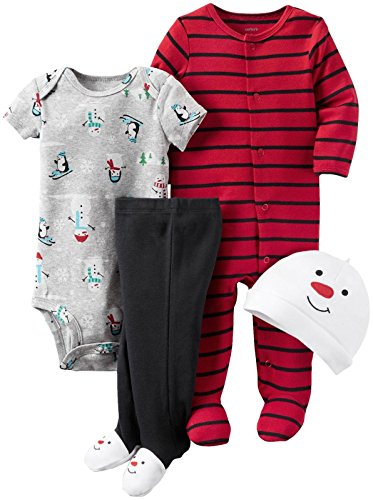 Carter's Baby Boys' 4 Pc Sets 126g406, Snowman, 6M