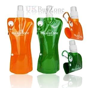 Milestone - Cantimplora flexible para deportes de exterior (550 ml)