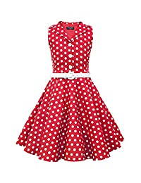 BlackButterfly Kids 'Holly' Vintage Polka Dot 50's Girls Dress