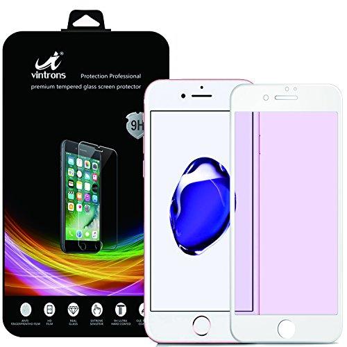 外向き傷つきやすいコーデリアiPhone 7スクリーンプロテクター、VINTRONS Anti-Spy強化ガラスフルカバレッジiPhone 7用プライバシースクリーンプロテクター - ホワイト