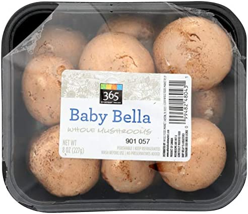 365 Everyday Value, Baby Bella Whole Mushrooms, 8 oz
