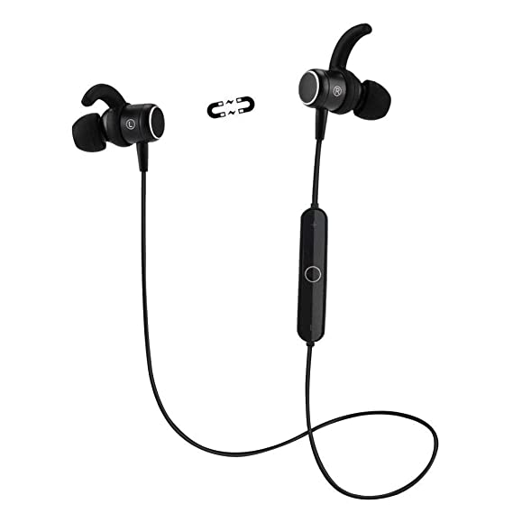 8ff506f0802 Bluetooth Headphones, Wireless Sports Earbuds Magnetic, HiFi Stereo Noise  Cancelling Earphones with Microphone Sweatproof
