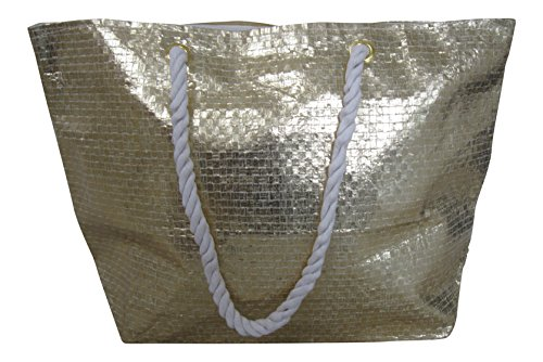 Woven Large Tote colours Gold Holiday Metallic Bag Effect 4 Lorenz Beach in Silver dtOSqOw