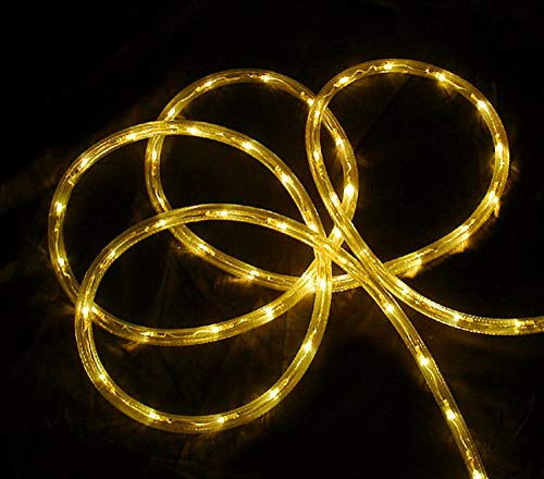 - 18' Yellow LED Indoor/Outdoor Christmas Rope Lights - 2