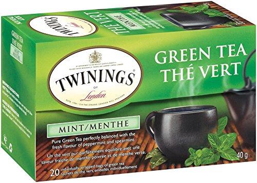 Twinings Green Tea, Mint, 20 Count Bagged Tea (6 Pack)