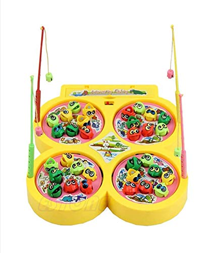 VIKASGIFTGALLERY Battery Operated Fish catching Game 2 – 4 Players Game with 4 Pools Multicolor
