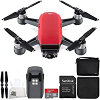 DJI Spark Quadcopter (Lava Red) + DJI Spark Bag Starter Bundle