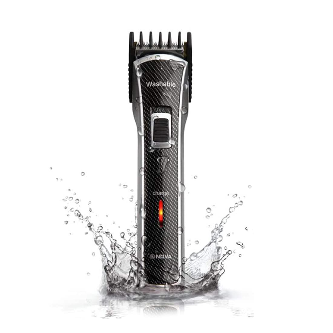 Nova NHT   1020 Waterproof   Rechargeable Cordless: 30 Minutes Runtime Beard Trimmer for Men  Black  Beard Trimmers