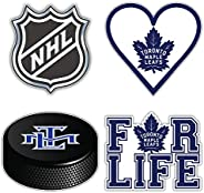 "Maple Leafs Hockey - Toronto Set of 4 Car Bumper Stickers Decals 5"" Longer"