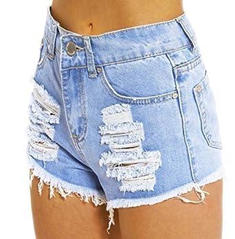 SS7 - Femmes - Short déchiré taille haute  Amazon.fr  Vêtements et ... e55ce22a6db