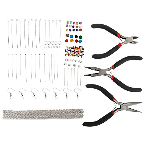 30mm Bead Chain Necklace (TOAOB jewellery making starter kits pliers findings glass beads cord tiger tail accessories)