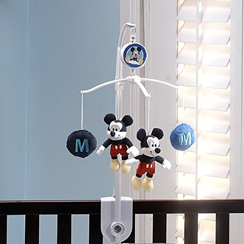 Disney Crib Mobile (Disney Mickey Mouse Musical Mobile, Navy, Red)