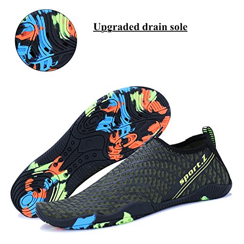 WXDZ Shoes Pool Sports Walking Socks Water Barefoot 4 Beach Shoes Quick Men army Dry Women Aqua Green Swim Running I47x4w