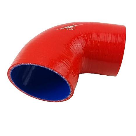 I33T 90-Deg Elbow Coupler 3-Ply Silicone Hose Intercooler Tube Pipe Racing Universal Inner Diameter 2.0 Inch Leg Length 4 Inch Blue /…